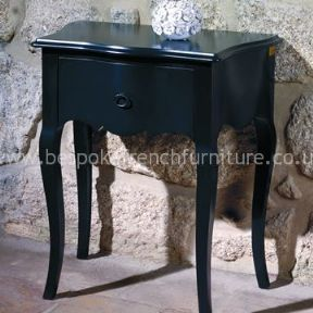 Glamour Curved Side Table with Single Drawer